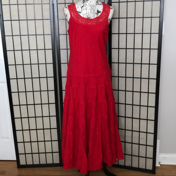 Jones Wear Dresses & Skirts - Crochet Sleeveless Fit Flare Layered Circle Casual